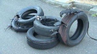 空気圧不足で起きるタイヤのバースト JAF