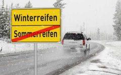 積雪時にスタッドレスタイヤ等装着無しは条例違反